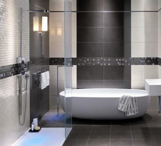 Moderne Fliesen Kuche : Heizkorper Kuche Modern  Modernes Badezimmer Braun Moderne badezimmer