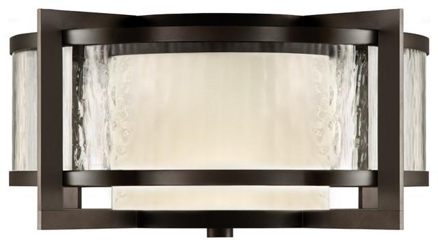 Fine Art Lamps 817982 Singapore Dark Bronze Patina Outdoor Flush Mount Cont
