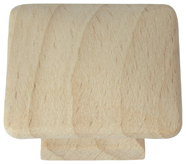 """1 1/4"""" Au Natural Wood Square Knob - Farmhouse - Cabinet And Drawer Knobs - by Laurey"""