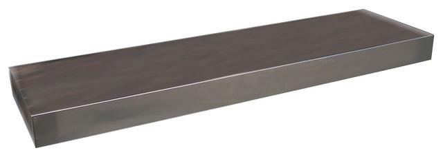 stainless steel floating wall shelf 18 modern. Black Bedroom Furniture Sets. Home Design Ideas