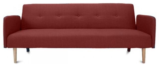 Canap convertible scandinave niels couleur rouge for Canape banquette convertible