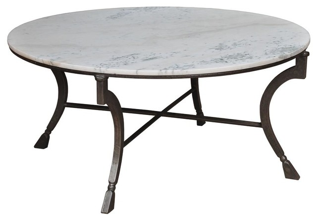 Dining Table White Pista Marble Top Iron Traditional Dining Tables