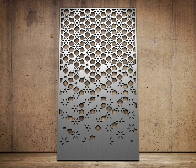 starburst design laser cut screen modern screens and