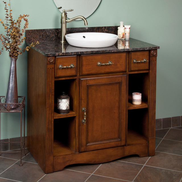"31 Beautiful Recessed Lighting Over Bathroom Vanity: 36"" Carrow Vanity For Semi-Recessed Sink"