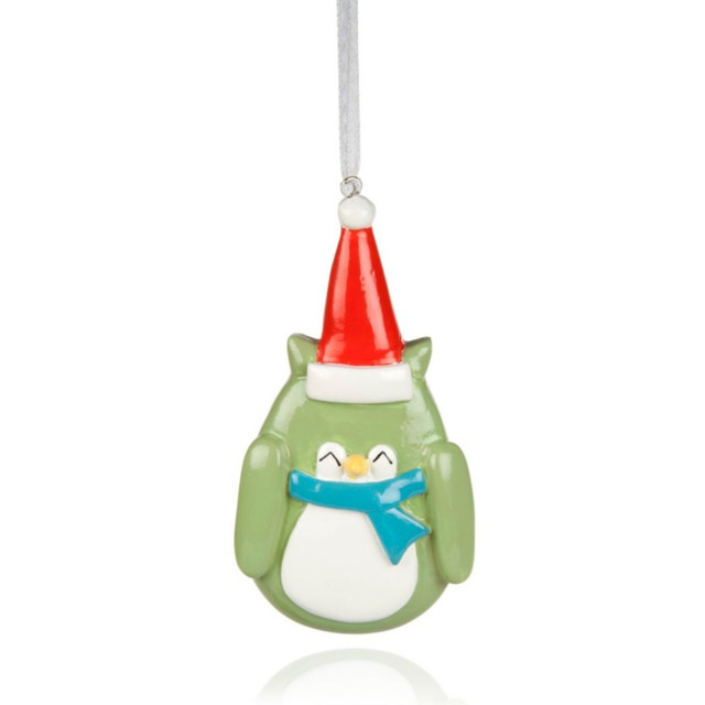 Multicolour owl tree decoration contemporary christmas for B q christmas decorations