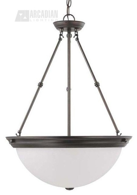 "Satco 20"" Energy Efficient Traditional Inverted Pendant ..."