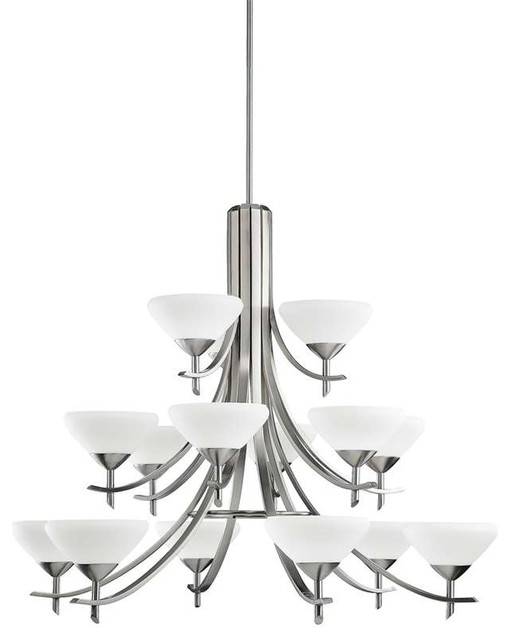 Kichler Lighting 1681AP Olympia Contemporary Chandelier In Antique Pewter C
