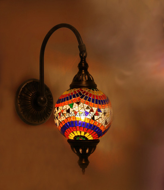 Colorful Turkish Style Mosaic Lighting Wall Sconce