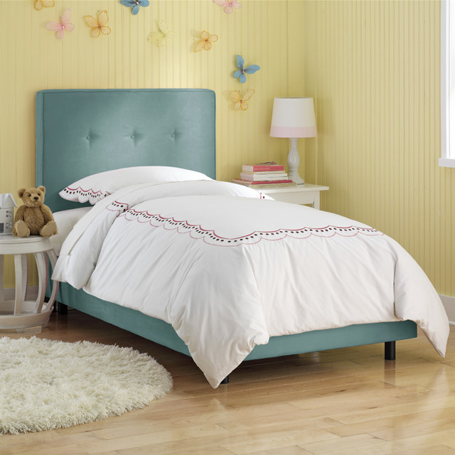 Button Upholstered Bed Modern Kids Beds By Rosenberry Rooms