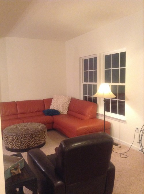 What wall paint color to go with orange sofa - What colors go with orange ...