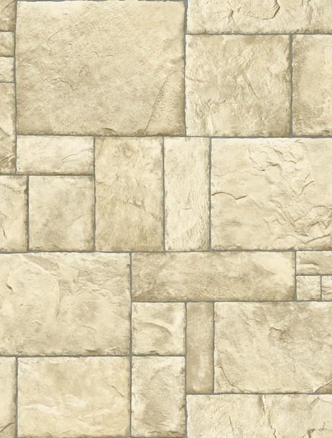 Sf084784 stone wall beige cream wallpaper contemporary for Cream wallpaper for walls
