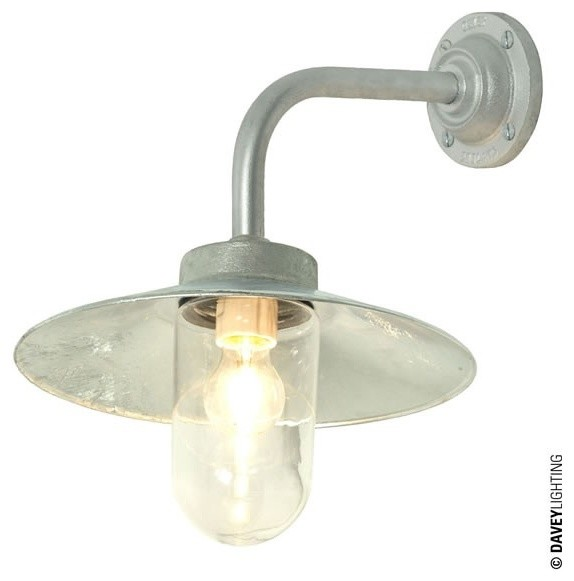 Davey Exterior Wall Lights : Davey 7680 Exterior Bracket Light Galvanized - Industrial - Outdoor Wall Lights - south east ...