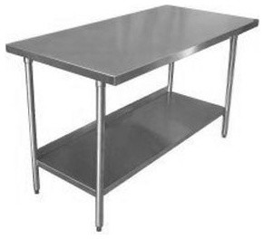 18-Gauge Stainless Steel Commercial Work Table - Traditional - Kitchen Islands And Kitchen Carts ...