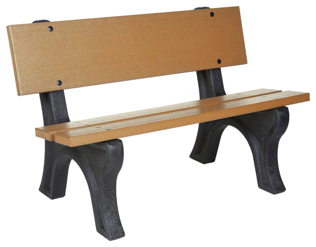 Eagle One Depot Bench In Black And Cedar 7 Feet Contemporary Garden Benches By Beyond Stores