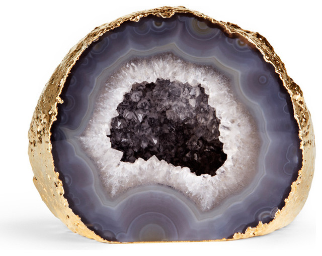 Grey Agate Geode Eclectic Home Decor