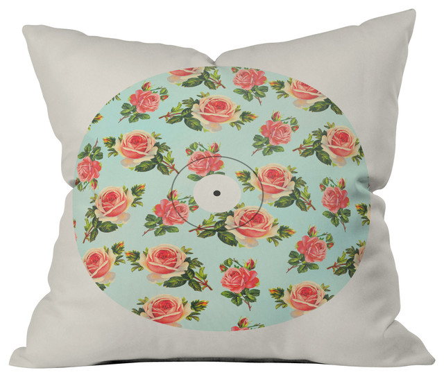 allyson johnson floral vinyl throw pillow 16x16