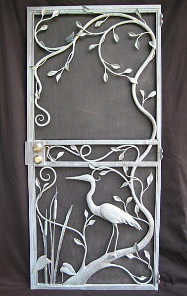 Tropical screen door miami by arts work unlimited inc