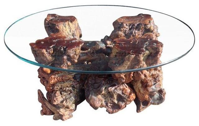 Mid Century Burl Wood Coffee Table Rustic Tables