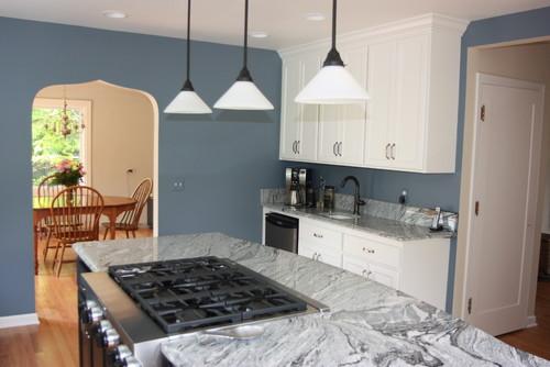 Viscount White Granite Countertop Backsplash Cabinets