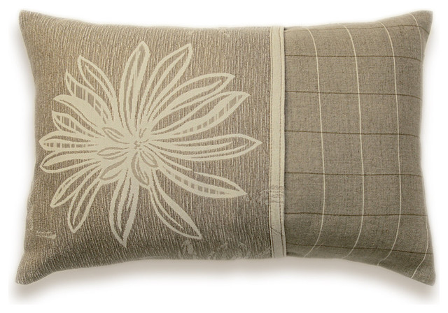 Cream Beige Decorative Throw Pillow Cover 12x18 CARLA DESIGN - Eclectic - Decorative Pillows ...
