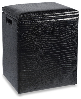 Black Croc Hamper Contemporary Hampers By Bed Bath