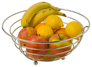 chrome fruit bowl modern fruit bowls and baskets by