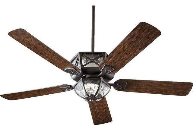 Quorum 12525 995 Auburn 52 Outdoor Ceiling Fan With Light Old World