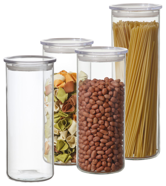 8 piece cylinder storage container set with clear plastic plastic airtight candy canister 78 ounce candywarehouse com