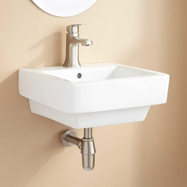 Kelyn Porcelain Wall-Mount Sink - Traditional - Bathroom ...