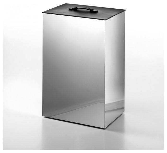 Secioni 53433 laundry basket with lid black lid contemporary laundry baskets by modo bath - Modern hamper with lid ...