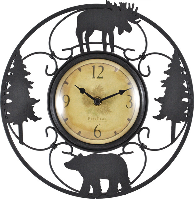 wildlife wire clock rustic wall clocks by firstime
