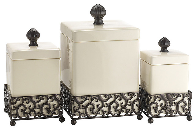 danbury square canister set contemporary kitchen