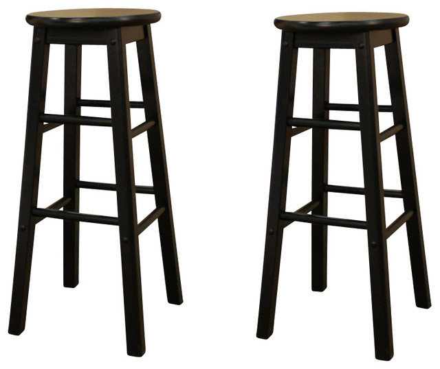 American Heritage Classic Stool in Black 26 Inch Set of  : traditional bar stools and counter stools from houzz.com size 640 x 538 jpeg 56kB