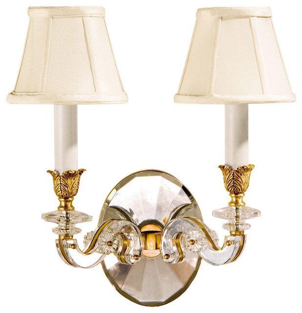 Brass and Crystal Sconce traditional-wall-sconces