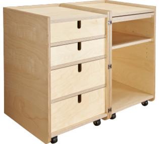 Elitta bureau d 39 appoint sur roulettes moderne meuble bureau et secr t - Secretaire meuble habitat ...