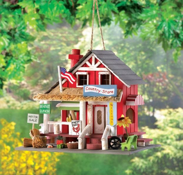 House Decorating Stores: Charming Country Store Wooden Birdhouse