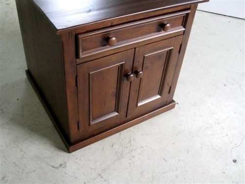 Square Old Pine Buffet Liquor Cabinet - Farmhouse - Buffets And Sideboards - boston - by ...