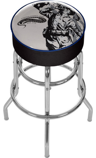 U S Army The Horn Calls Padded Bar Stool Made In Usa