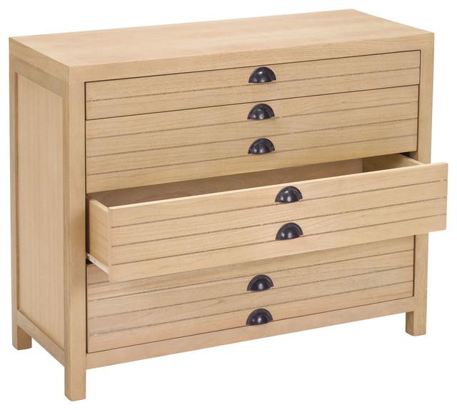 4 Drawer Flat File Cabinet - Transitional - Filing ...