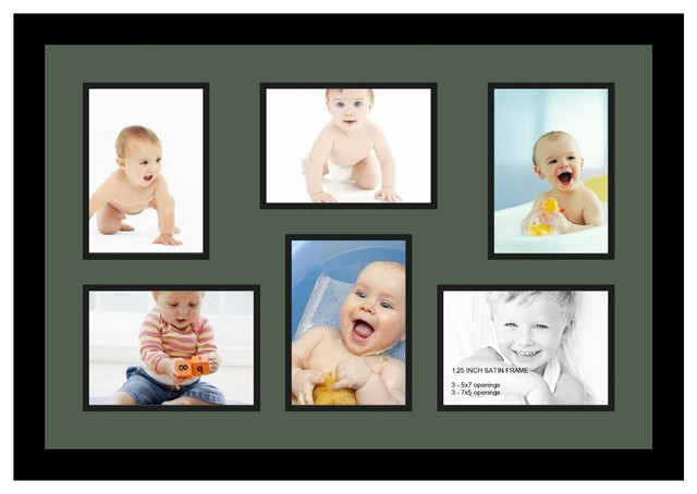 Arttoframes collage photo frame with 6 5x7 openings for Modern collage frame