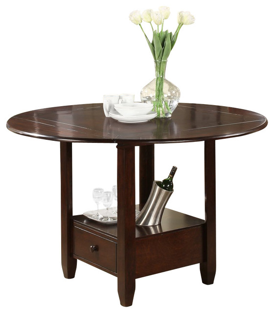 morgan round to square drop leaf counter table dining