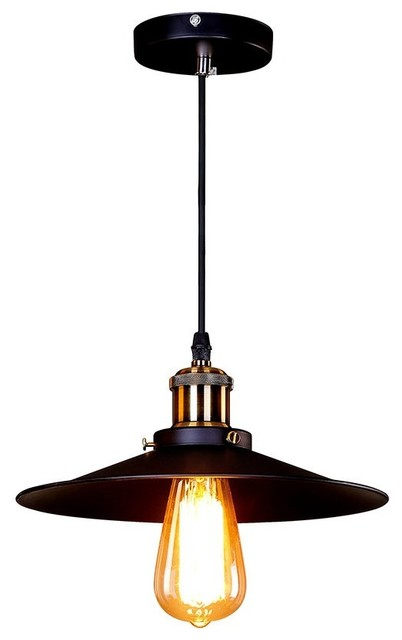 Umbrella Shade Industrial Pendant Light Black