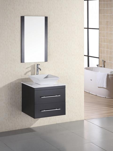 24 Portland Single Bath Vanity Marble Dec071c W Modern Bathroom Vanities And Sink
