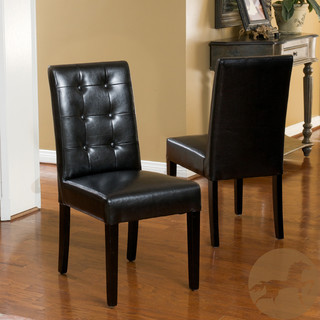 Christopher Knight Home Roland Black Leather Dining