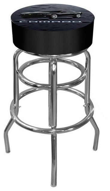 Padded Bar Stool Made In Usa Camaro Contemporary Bar