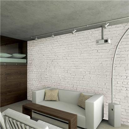 Distressed White Brick Wallpaper Mural Contemporary