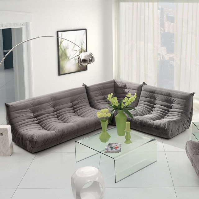Zuo modern circus sectional sofa set modern sectional for Contemporary sofa set