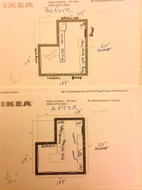 A true inverted l shaped kitchen help for Inverted house plans