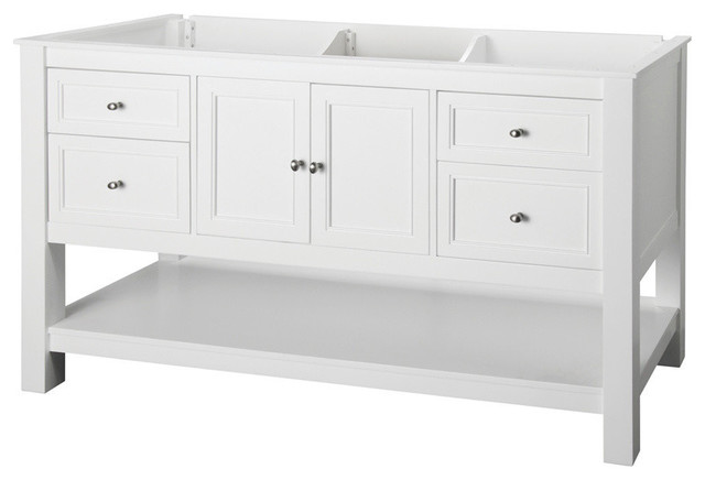 Foremost Gazette 60-Inch Vanity Cabinet in White with Single Bowl - Contemporary - Bathroom ...