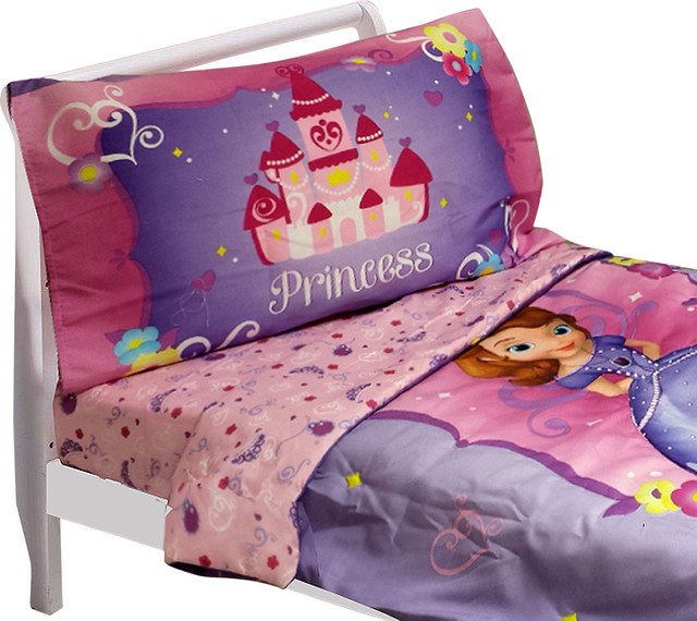 Disney Sophia First Toddler Bedding Set Sweet Princess Bed Contemporary Toddler Bedding By